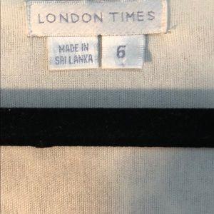 LONDON TIMES BLK/WHT DRESS